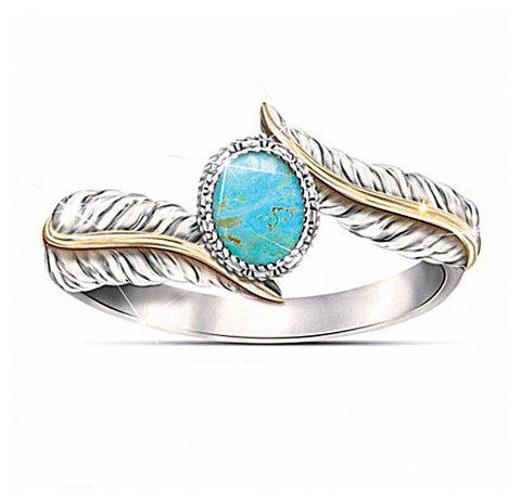 Magnifique Bijoux Femme Turquoise Feather Party Ring - Turquoise Moyenne US SIZE 8