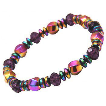 Multicolor Magnetic Beads Hematite Stone for Therapy Health Care Men - multicolor A