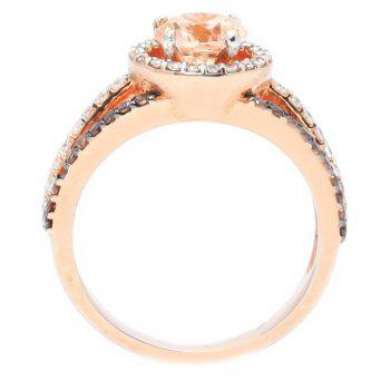 Luxury Exquisite Rose Gold Gemstone Diamond Charm Crystal Bride Princess Ring - ROSE GOLD US SIZE 7