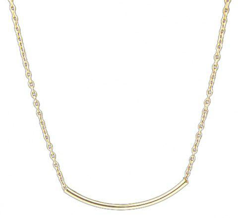 Minimalist Metal Chain Empty Tube Necklace for Women - GOLD