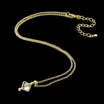 Fashion Crystal Alloy Geometry Pendant Necklace for Women - multicolor