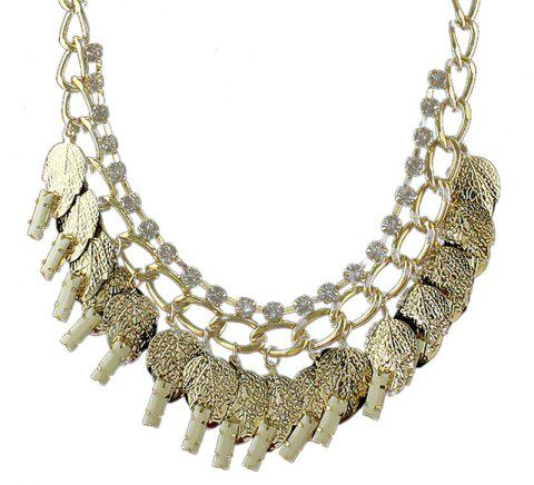 Collier de feuille de strass - multicolor B