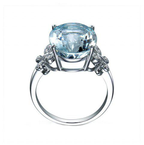 Large Gemstone Butterfly Crystal Ring - SILVER US SIZE 10