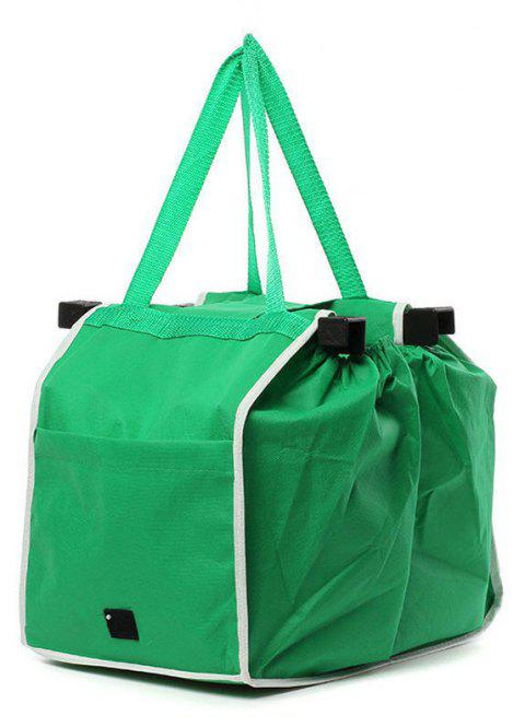 Foldable Reusable Shopping Cart Bag - DEEP GREEN