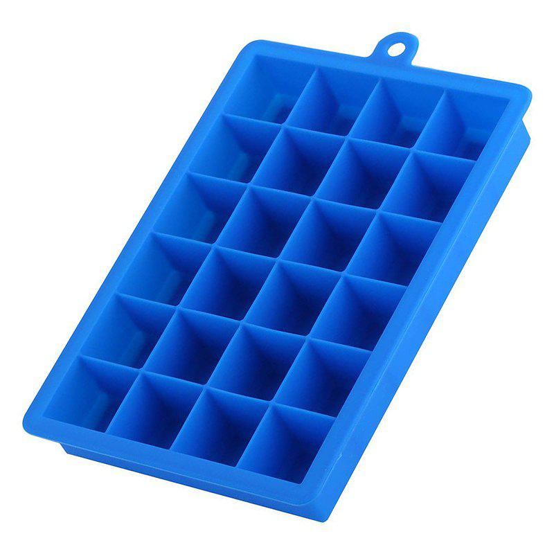 24 Cavity Mini Cocktail Whiskey Ice Cube Mold Storage Containers - BLUE