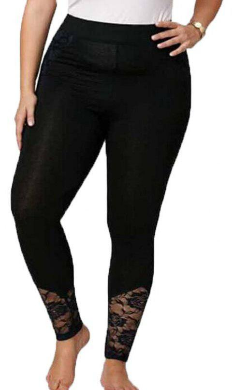 Legging Femme Plus Size Pencil Leggings - Noir 4XL