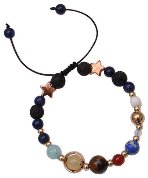 Universe Solar System Colorful Beads Bracelet - multicolor FREE