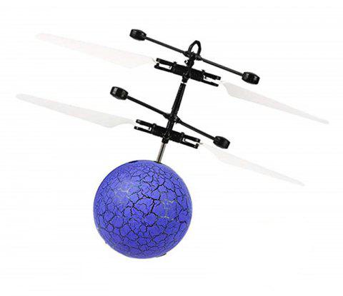 Mini LED Flying Ball Light Crystal Induction Aircraft Toys Helicopter - OCEAN BLUE