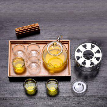 Heat Resistant High Temperature Glass Tea Set - TRANSPARENT