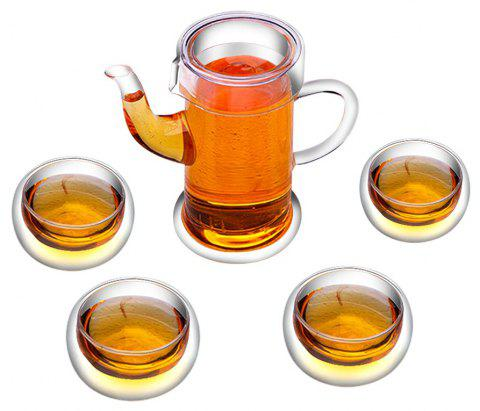 Household Heat-resistant High Temperature Glass Tea Set - TRANSPARENT