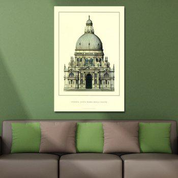 Elegant Luxurious Castle Print Art - multicolor
