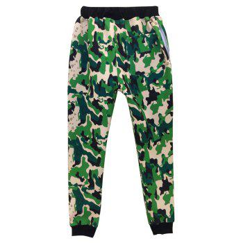 Men's Casual 3D Print Skull Camouflage Sports Pants - FOREST GREEN M