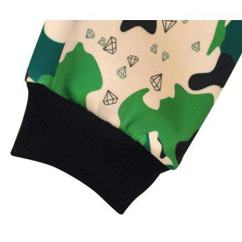 Men's Casual 3D Print Skull Camouflage Sports Pants - FOREST GREEN S