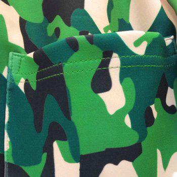 Men's Casual 3D Print Skull Camouflage Sports Pants - FOREST GREEN XL