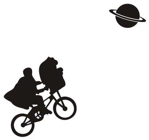Art Creative Notebook Refrigerator Luggage Bicycle Sticker Ba-024 - BLACK