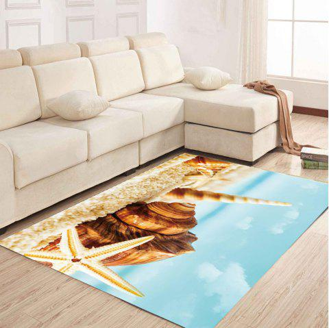 Simple North Europe Style Rug Beach Conch Pattern Floor Mat Living Room Bedroom - ROBIN EGG BLUE 50X80CM