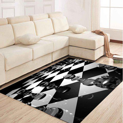 Simple North Europe Style Rug Black White Patchwork Floor Mat Living - BLACK 120X160CM