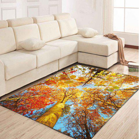 Simple North Europe Style Rug Maple Leaf Pattern Floor Mat Living Room Bedroom - BRIGHT YELLOW 80X120CM