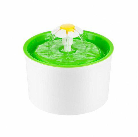 Automatic Pet Drinking Fountains Mute Cat Dog Feeder Bottle Electric Bowl - NEBULA GREEN