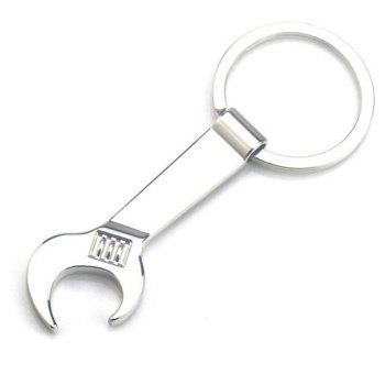 Personality Creative Mini Wrench Opener Metal Keychain - SILVER