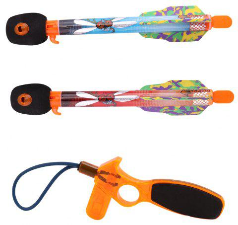 2PCS Children Boys Flying Arrow Rocket Sreaming Whistle Action Super Sky Toy - multicolor