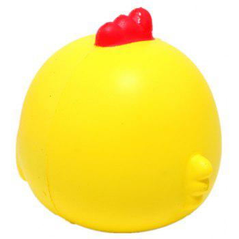 Jumbo Squishy  Chicken Baby Squishy Soft Doll Squeeze Toy - YELLOW