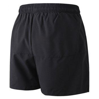 Men's Sports Running Basketball Fitness Training Stretch Quick Dry Shorts - BLACK L
