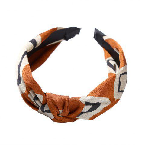 Cloth Art Knitwear Yoga Face Geometry Hairband - GOLDENROD