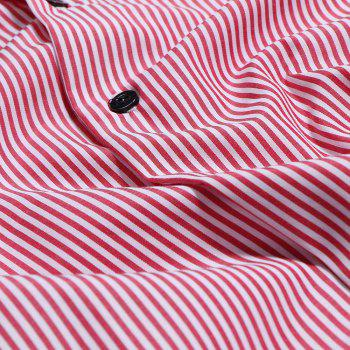 Men's Casual Fashion Striped Shirt - RED L