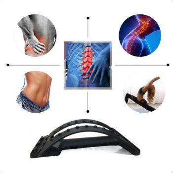 Lumbar Spine Tractor Back Massage Stretcher Humpback Kyphotone - BLACK