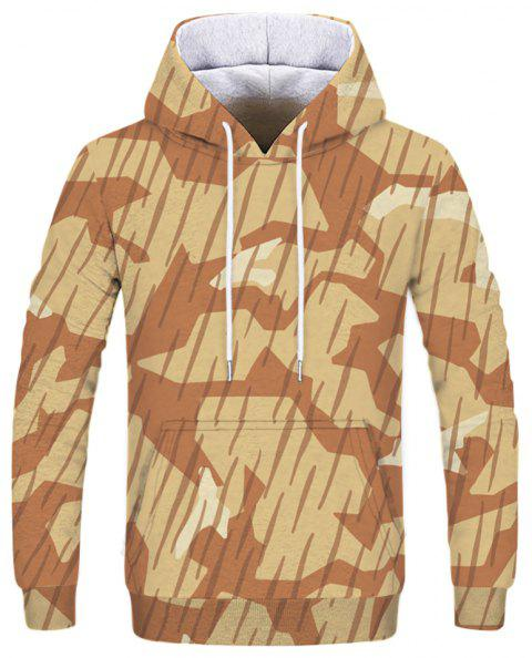Fashion Men's Print Desert Camouflage Hoodie - multicolor 3XL