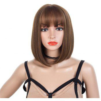 Women Wig Air Bobo Bobhead Wig - BROWN BEAR 14INCH