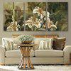 Special Design Frameless Paintings Beautiful Lily Pattern of 3pcs - multicolor 16 X 24 INCH (40CM X 60CM)