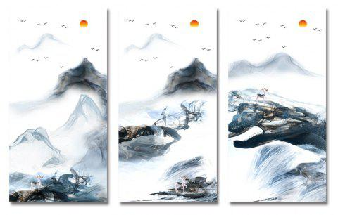 3PCS Landscape Painting Print Art - multicolor