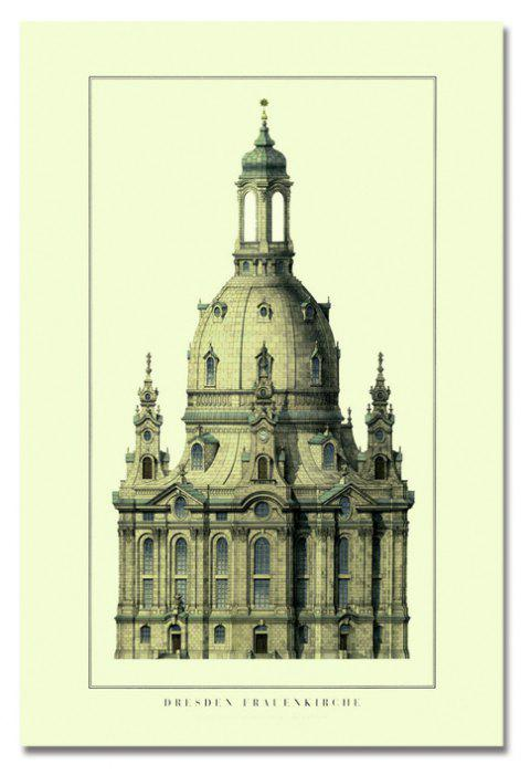 European Architectural Castle Print Art - multicolor