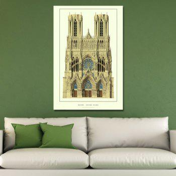 European Fashion Castle Print Art - multicolor