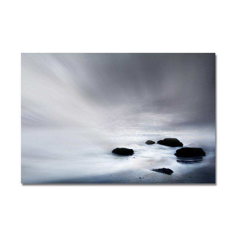 Beach Stone Beach Print Art - multicolor