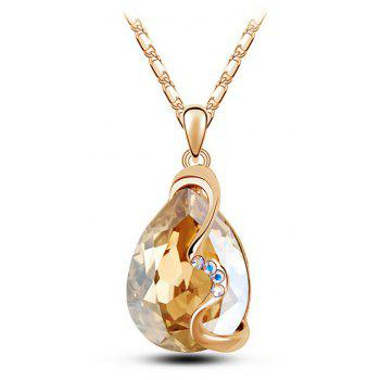 Fashion Party Accessories Earrings Pendant Necklace Ring Jewelry Set - CHAMPAGNE GOLD