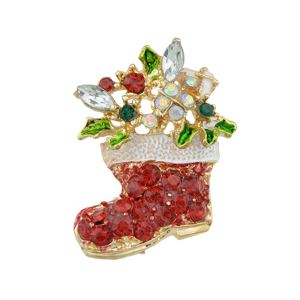 Broche de Noël strass coloré de Noël - multicolor