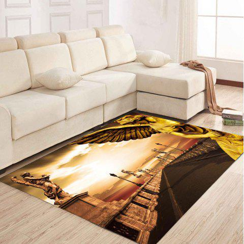 Simple North Europe Style Rug Road Scenery Pattern Floor Mat Living Room - GOLDEN BROWN 140X200CM