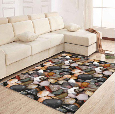 Simple North Europe Style Rug Cobblestone Pattern Floor Mat Living Room Bedroom - BATTLESHIP GRAY 40X60CM