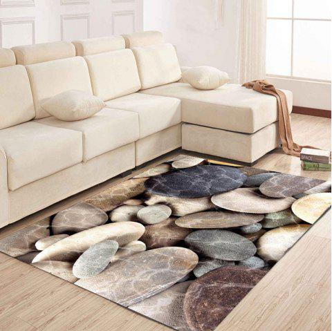 Simple North Europe Style Rug Cobblestone Pattern Floor Mat - LIGHT GRAY 80X120CM