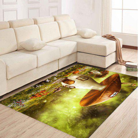 Simple North Europe Style Rug Big Mushroom Pattern Floor Mat Living Room Bedroom - GREEN ONION 50X80CM