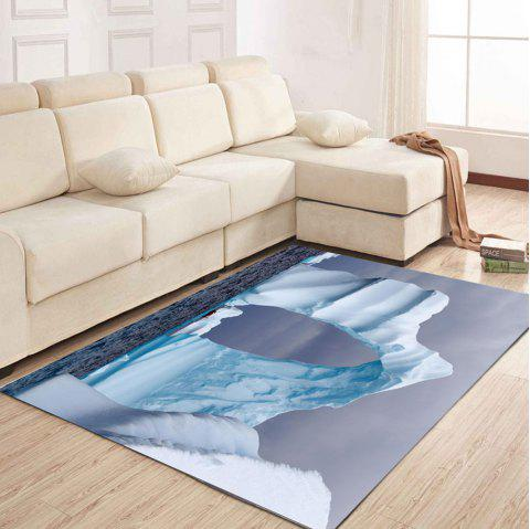 Simple North Europe Style Rug Glacier Pattern Floor Mat - ICEBERG 120X160CM