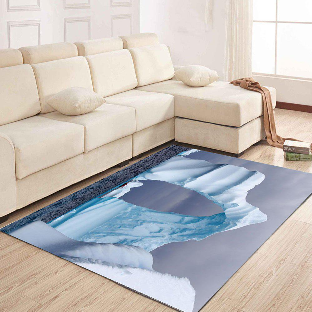 Simple North Europe Style Rug Glacier Pattern Floor Mat - ICEBERG 160X230XM