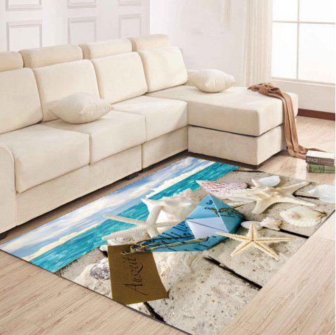 Simple North Europe Style Rug Glacier Pattern Floor Mat Living Room Bedroom - ICEBERG 120X160CM