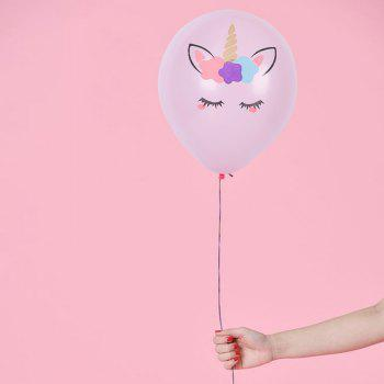 Color Thickened Unicorn Latex Balloon - WHITE