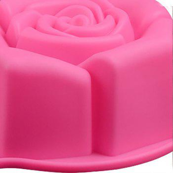 Rose-shaped Silicone Chocolate Cake Mould - PINK CUPCAKE