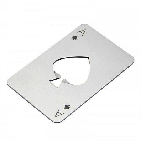 Bottle Opener Credit Card Size Casino for Your Wallet - SILVER
