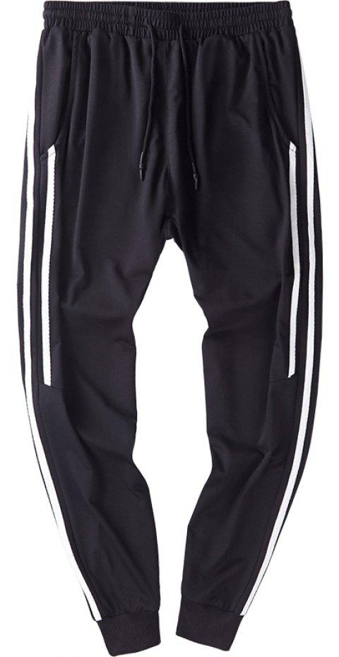 Men's Fashion Casual Small Leg Pants - BLACK M